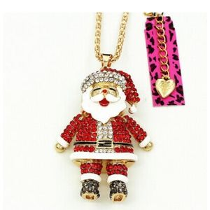 NEW BETSEY JOHNSON SANTA CLAUS NECKLACE